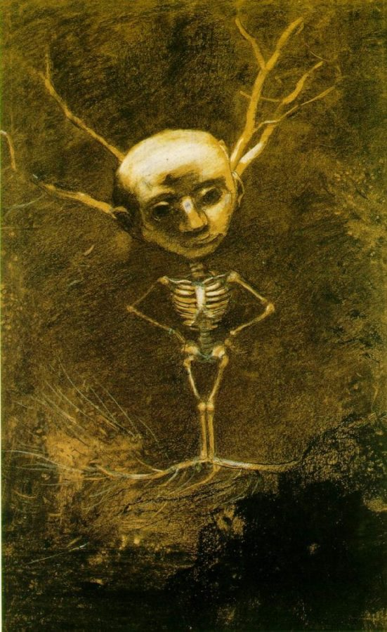 Odilon Redon, Spirit of the Forest (Specter from a Giant Tree) , 1880, The Woodner Family Collection, New York