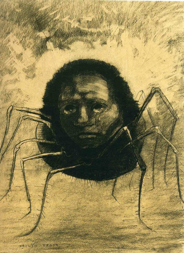 Odilon Redon, Crying Spider, 1881, Private collection, The Netherlands