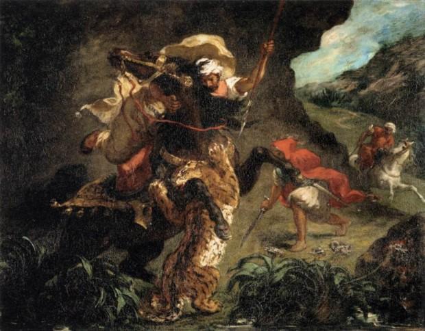 Eugène Delacroix, The Tiger Hunt, 1854, Musée d'Orsay, Paris