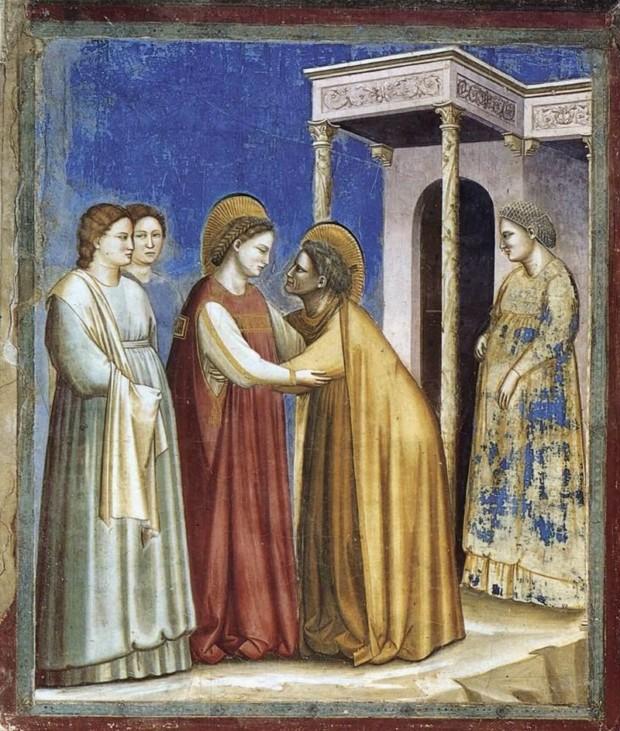 Giotto di Bondone, Visitation, 1300-5, Scrovegni Chapel
