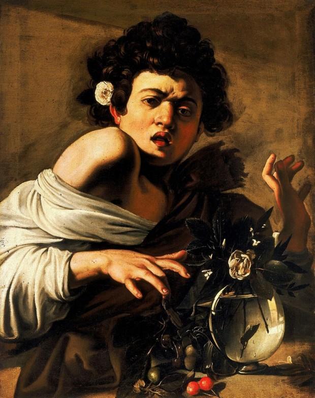 Caravaggio, Boy Bitten by a Lizard, 1593–1594, National Portrait Gallery