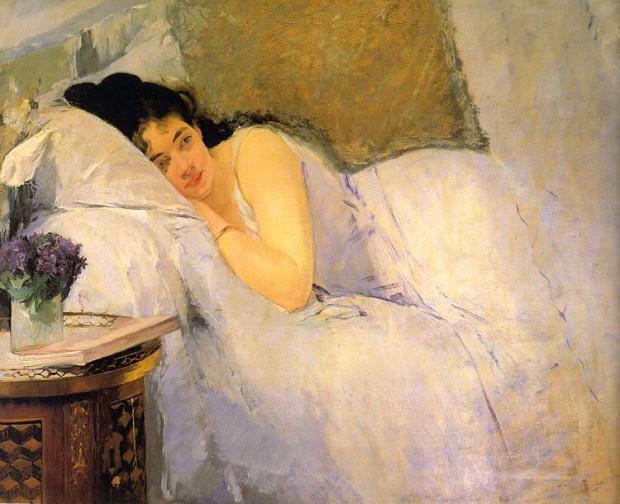 Eva Gonzales, Morning Awakening, Kunsthalle Bremen, 1876
