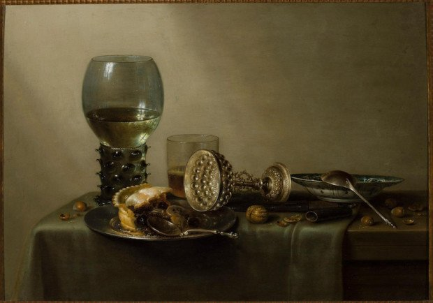 Willem Claesz Heda , Still Life with a Pie, Wine, Beer and Nuts, 1637, National Museum in Warsaw