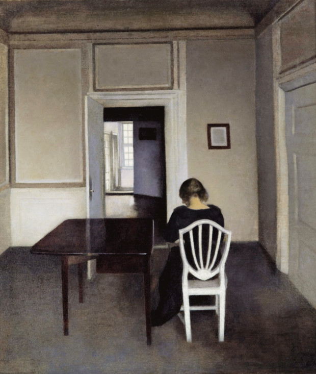 Villhem Hammershoi, Interior with Ida in a White Chair, 1900, private collection
