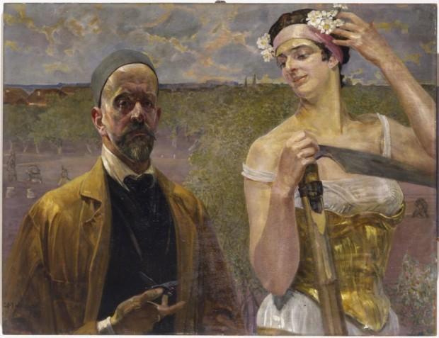 Jacek Malczewski, Self-portrait with Thanatos, 1902, National Museum in Warsaw