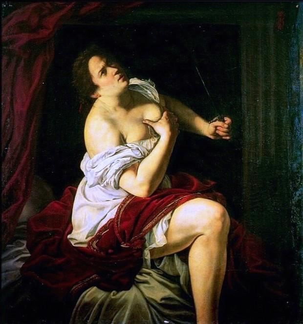 Artemisia Gentileschi, Lucretia. c. 1621, Palazzo Cattaneo-Adorno, Genoa