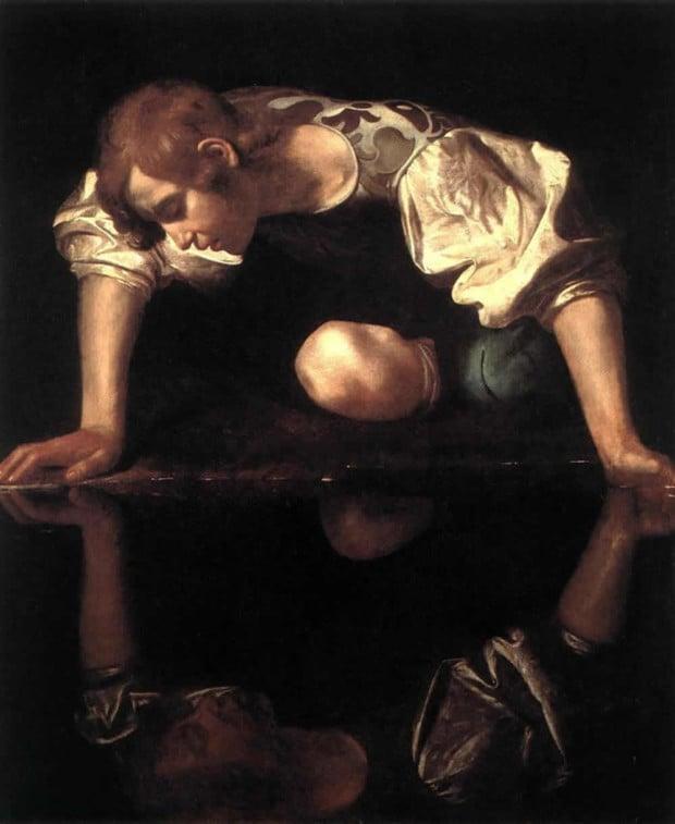 Caravaggio, Narcissus, 1597-99, Galleria Nazionale d'Arte Antica a Palazzo Barberini, Rome.