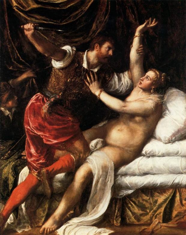 Titian, Tarquin And Lucretia, Fitzwilliam Museum, 1571