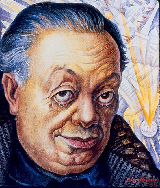 Diego Rivera, Self-portrait: The Ravages of Time, 1949, Collection of Marilyn O. Lubetkin
