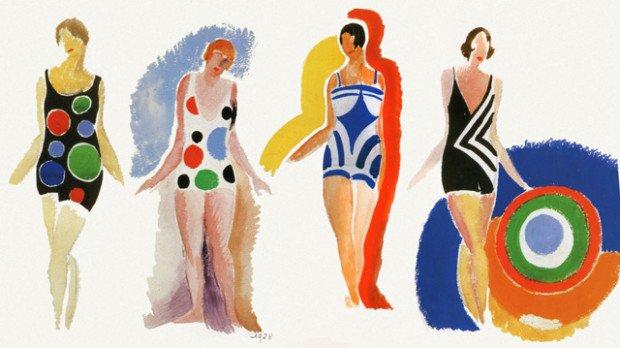 Sonia Delaunay, Swimsuits, 1928