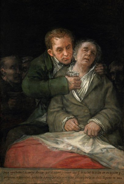 Francisco Goya, Self-Portrait with Dr. Arrieta, 1820, Minneapolis Institute of Art