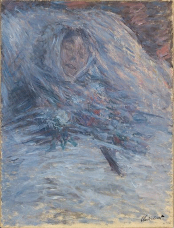Claude Monet, Camille On Her Deathbed, 1879, Musee d'Orsay