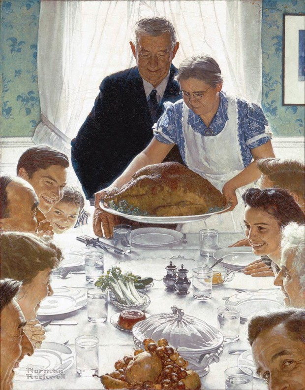 Norman Rockwell, Freedom From Want, 1943, Norman Rockwell Museum