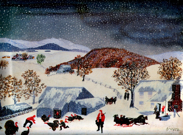 Grandma Moses, Catching the Thanksgiving Turkey, 1943, private collection