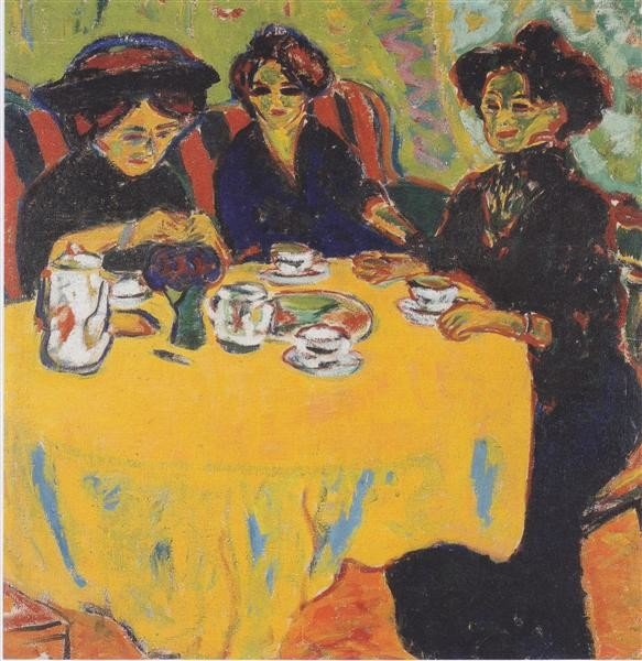 Ernst Ludwig Kirchner, Coffee Drinking Women, 1907, Westphalian State Musuem of Art and Cultural History, Munster, Germany