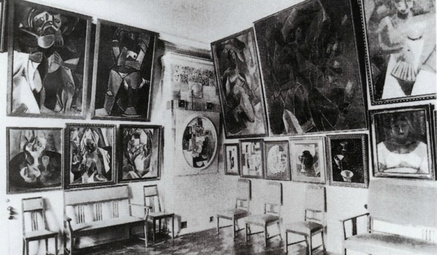 Sergei Shchukin's study in Moscow, 1913