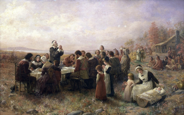 Jennie Augusta Brownscombe, The First Thanksgiving,1914, Pilgrim Hall Museum, Plymouth, Massachusetts