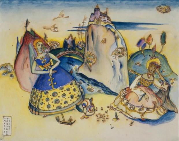Wassily Kandinsky, Imatra, 1917, Pushkin State Museum of Fine Arts