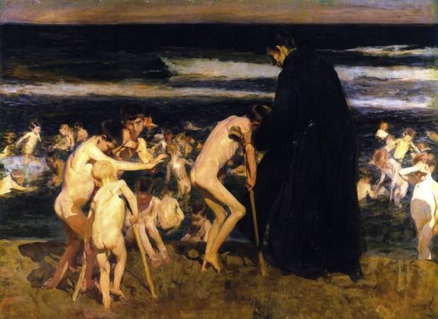 Joaquin Sorolla, Sad Inheritance, 1899, private collection
