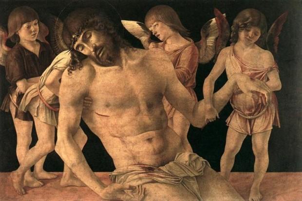 Giovanni Bellini, Dead Christ Supported By Angels,1474, Museo della città di Rimini, Rimini, Italy