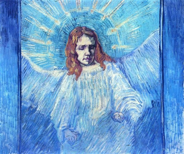 Vincent van Gogh, Head Of An Angel, After Rembrandt, 1889, private collection