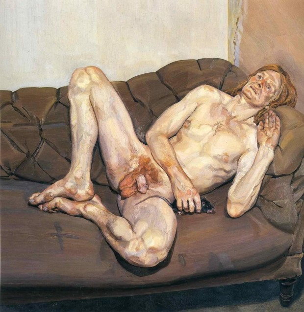 Lucian Freud, Naked Man with Rat, Art Gallery of Western Australia, 1977-78 The Best of Lucian Freud