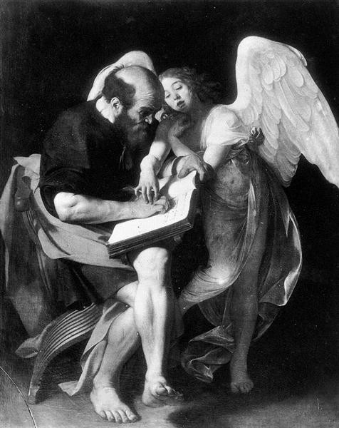 Caravaggio, Saint Matthew And The Angel, 1602, destroyed