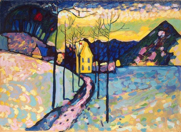 Wassily Kandinsky, Winter landscape, 1909, Hermitage Museum, Saint Petersburg, Russia