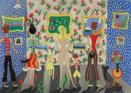 Pegeen Vail, The Exhibition, 1945, Collezione Peggy Guggenheim, Venice