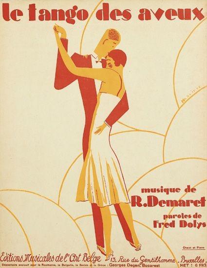 René Magritte, Le Tango des Aveux, 1926), Éditions Musicales de l'Art Belge, Brussels.