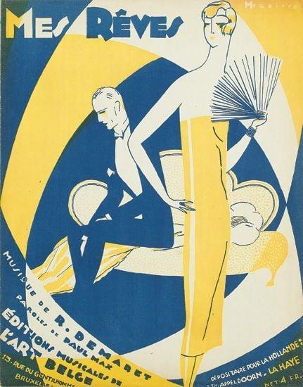 René Magritte, Mes Rêves, 1926, Éditions Musicales de l'Art Belge, Brussels.