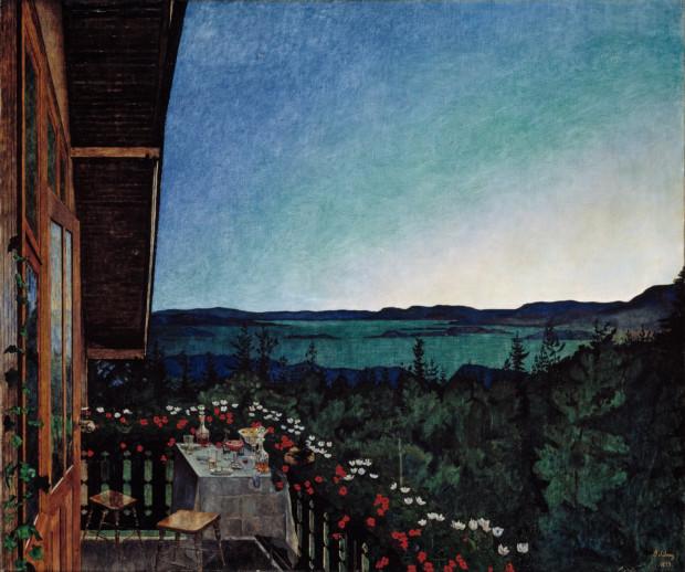 Harald Sohlberg, Summer Night, 1899, Nasjonalgalleriet