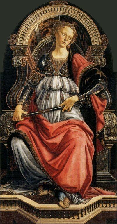 Sandro Botticelli, Fortitude, 1470, Galleria degli Uffizi, Florence