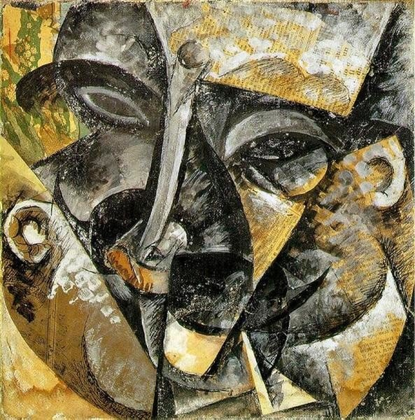Umberto Boccioni, Dynamism of a man's head, 1913, Private collection