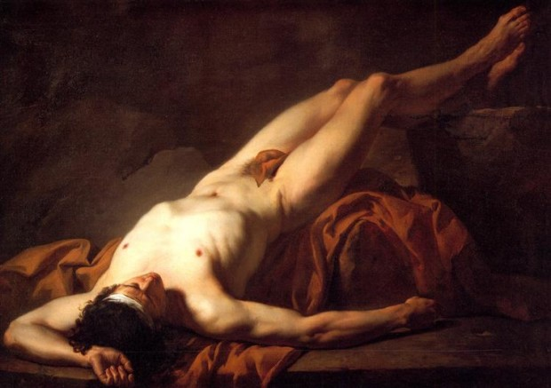 Jacques-Louis David, Male Nude Known As Hector, 1778, Musée Fabre, Montpellier, France