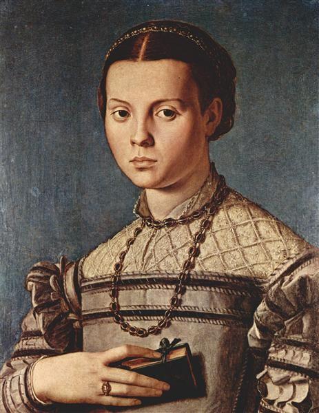 Agnolo Bronzino, Portrait Of A Girl With Book, 1545, Uffizi, Italy