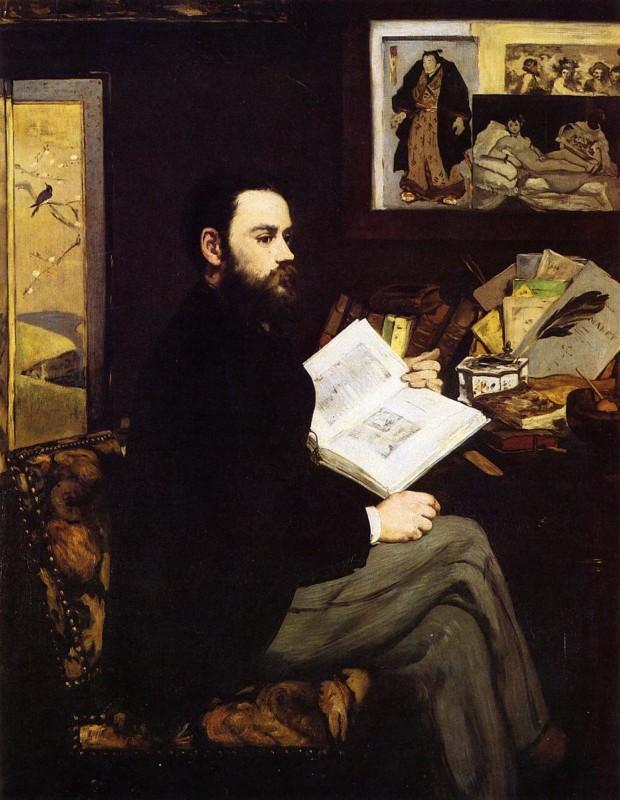 Edouard Manet, Portrait Of Emile Zola, 1868, Musée d'Orsay