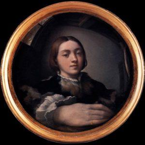 Parmigianino, Self-Portrait in a Convex Mirror, c. 1524, Kunsthistorisches Museum, Vienna