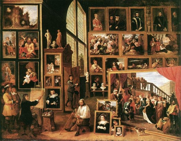 David Teniers the Younger, The Gallery Of Archduke Leopold In Brussels, 1639, Staatsgalerie Stuttgart, Stuttgart, Germany
