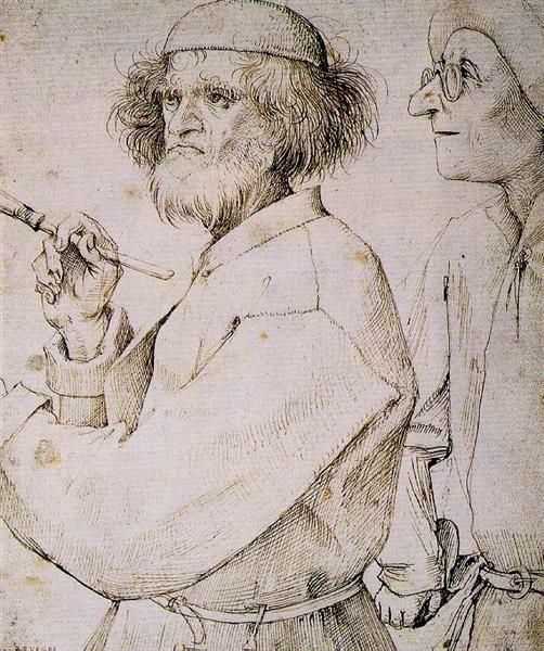 Pieter Bruegel the Elder, The Painter And The Art Lover, 1565, Albertina, Vienna