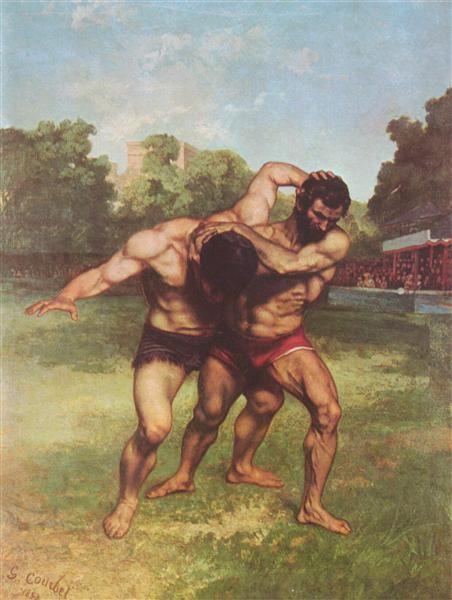 Gustave Courbet, The Wrestlers, 1852-1853, Budapest Museum of Fine Arts, Budapest, Hungary