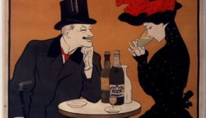 Poster for J. Edouard Pernot Absinthe extra-supérieure, Leonetto Cappiello, 1900. BNF PD.