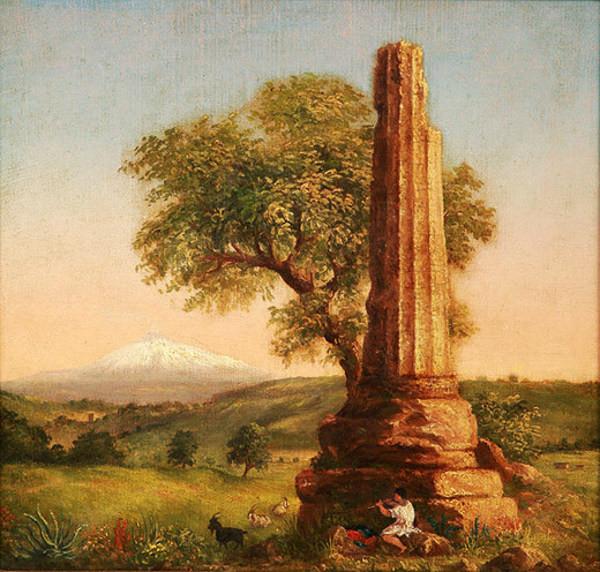Ancient Column Near Syracuse by Sarah Cole