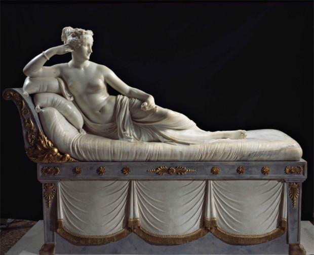 Antonio Canova, Venus Victrix (Paolina Borghese), 1808, Galleria Borghese