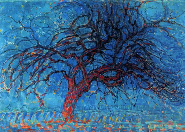 Piet Mondrian, Evening; Red Tree, 1908–10, Gemeentemuseum Den Haag