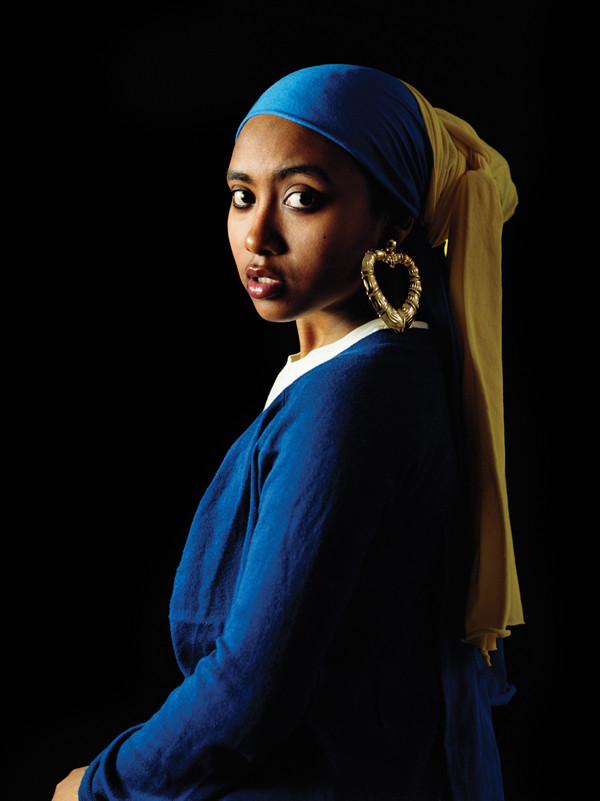Awol Erizku, Girl With a Bamboo Earring, 2009