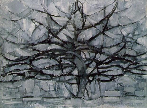 Piet Mondrian, The Gray Tree, 1912, Gemeentemuseum Den Haag, The Hague