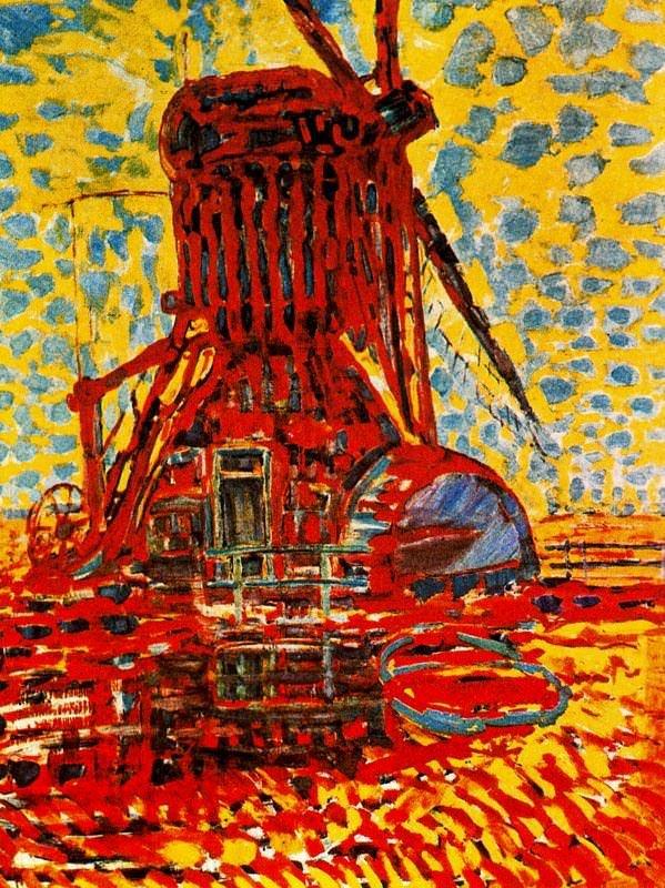Piet Mondrian, Windmill in Sunlight, 1908, Gemeentemuseum