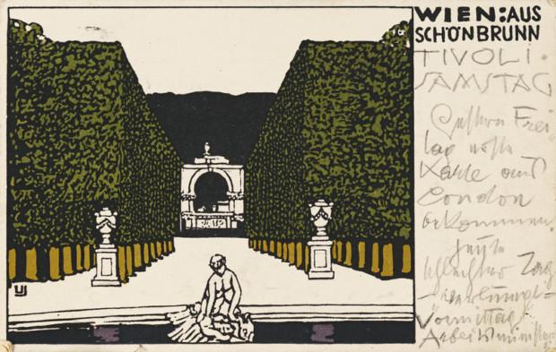 Postcard from Gustav Klimt to Emilie Flöge, 27.02.1909, gustav klimt emilie flöge private collection