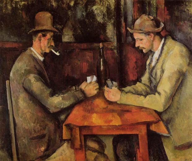 Paul Cezanne, The Card Players 1894–95 Oil on canvas, 47.5 × 57 cm Musée d'Orsay, Paris
